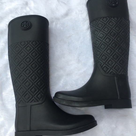 8df654aa50dded Tory Burch Marion Quilted Rain Boots. M 5b4fb69e534ef9c8fdc274e2
